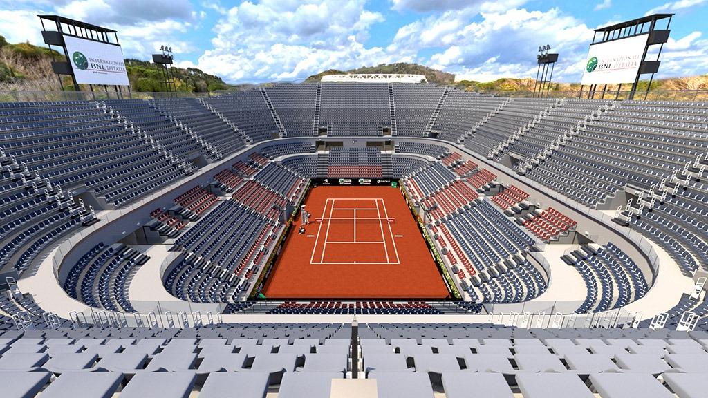 Centrale del tennis internaizonali BNL Roma